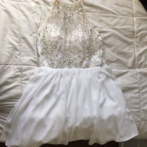 white formal dress